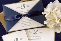Navy and Gold Wedding