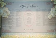 Seating Charts / Avoid chaos at your wedding with an organized seating chart. Large or small designs add style and tie your event together. Custom designs, last minute printing and frame rental available at Paper Studio in Ottawa, Ontario.