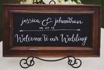 Chalkboard Themed Wedding / The chalkboard theme lends itself to elegant, vintage and rustic weddings. Find inspiration for your invitations, accessories, photos and more...Visit www.paperstudio.ca