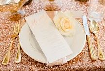 Rose Gold Wedding / All things glittery, gold and rose gold are in! From rings to invitations and bridal gowns, rose gold is the trend for weddings.