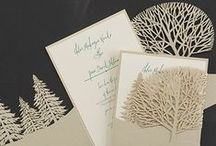 Laser Cut Invitations / Laser cut invitations are elegant and unique. From modern to romantic, you'll find a laser design to suit your wedding style. Find affordable laser cut invitations at www.paperstudio.ca