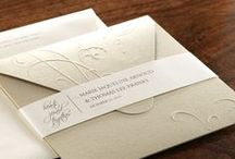 Embossed Pocket Invitations / Add elegance to pocket invitations with embossed designs. Multiple sizes, colours and designs available through Paper Studio.