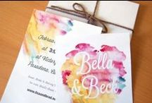 Watercolour Invitations / Watercolour designs can be as bold or as subtle as you'd like. Create a whimsical romantic design, or go for deep striking colours, the choice is yours. Available through www.paperstudio.ca