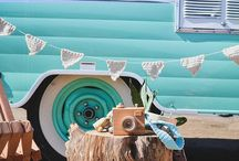 Wanderlust + Cute Campers / Obsessed with retro campers and vintage camping decor? Me too. Follow along for gobs of retro camper inspiration.