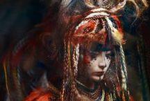 Masks, Headdress, Redress / Costumage, veils, evocation of else / by Mahalie
