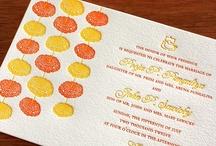 {invitation design} marigold