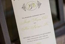 {real wedding} jenny and brian / by Invitations by Ajalon