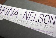 {invitation design} lakina / Linear and sleek, here's a modern letterpress wedding invitation that speaks volumes!
