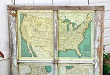 DIY Map // Globe Projects / I heart vintage maps. Here is a collection of DIY project ideas using the many maps and globes we've acquired along the way.