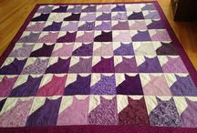 Made it / Purple kitty quilt / by Rachel Cox