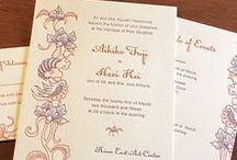 {invitation design} teng / an asian themed letter press wedding design that looks like dragons, lanterns, and smoke