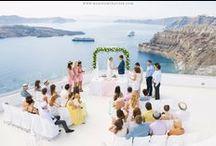 Shabby Chic Wedding in Santorini / Flower design & Decoration: Wedding Wish Santorini | www.weddingwish.com.gr