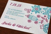 {invitation design} vilasini / A playful modern Indian design Full of floral motifs and bright colors for a contemporary multicultural wedding. Made for a bilingual format to invite all your friends and family.