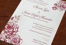 {invitation design} aurora / Our new Spring 2015 design Aurora is a romantic wedding invitation design with rose details for a barn chic wedding. / by Invitations by Ajalon