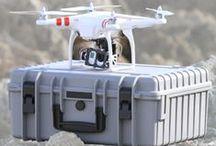 Copter Cases / Die Outdoorkoffer von B&W International für Quadrocopter mit speziell zugeschnittenen Schaumstoffeinsätzen.