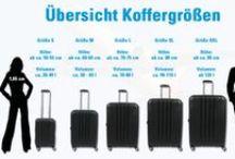 Infografiken & Tipps zum Reisegepäck / Hier gibt es Tipps, Informationen und Infografiken zu Koffern und anderem Reisegepäck.