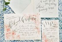 Calligraphy / Aspirational calligraphy. I am very determined to have beautiful handwriting some day. Practice makes pretty!