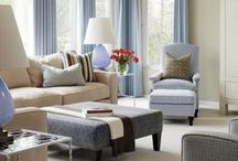 Living room / Decorating inspiration for our living room: cozy, comfortable, refreshing, light, calm, beachy