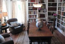 Library/Office / Library with small office & style/spaces for socializing / by Elizabeth Engle