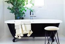 Home - bathroom / Herringbone white bathroom