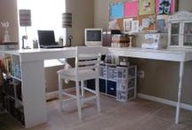 Craft space ideas / Setting up the perfect crafting area / by InspiredUK