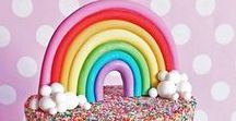 Rainbows / Rainbow themed activities and crafts for toddlers, preschoolers and older kids. This will include happy pictures, rainbow photography, party ideas, art, desserts, cupcakes, colorful posts and technically....All things rainbows!