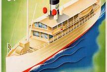 Original ocean liner posters