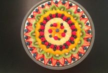Fruit pizzas / Fruit pizzas are pretty much the best dessert ever. Never offered a slice to someone who didn't like it. The ONLY downside to the pizzas is that they can be slightly pricey, due to all the fruit. But they're SO worth it! Plus, they look pretty dang impressive when offered to guests!  / by Rachael Mantelli