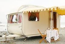 Happy camper / Summer style, travel, camper travel, traveling in style, designer camper, camping, glamping, colorful RV, colorful camper, summer travel, travel with kids, travel inspiration, colorful travel