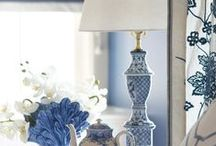 decorate: blue and white / by Anne Morgan