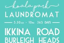 VINTAGE LAUNDROMATS AROUND THE WORLD / Laundromats have been around for decades and some are wonderfully iconic, kitsch  and so full of character with so many stories that they could tell...  Our family owned Gold Coast  Laundromat is on Ikkina Rd at Burleigh Heads Australia