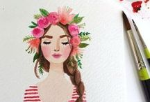 Artistic Style / art, artistic style, pastel painting, paints, blush tones, blush paint, art that inspires, pink art, blue art, watercolor, oil painting art, inspiring photography, watercolor skin tones, watercolor images of people