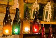 Coleção de garrafas