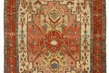 Antique Heriz Carpets / The city of Heriz is situated in the northwest of Iran, not far from the greater city of Tabriz. In the city and its surroundings carpets are manufactured with a pattern that is easily recognized; in the center there is a large right-angled medallion with large marked corner sections.   Heriz carpets, with its high wool quality, are well known for their durability and hardiness, and are very suitable for hallways and dining-rooms. Large sizes, from 300x200 cm and more are most common.