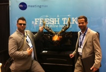DMAI (Destination Marketing Association International) Annual Convention 2012 - Seattle, WA / The Meetingmax trade show booth at the 2012 DMAI Annual Convention featured a living room complete with slippers to kick back in and a blow up moose head above our fireplace, which attendees couldn't resist taking a picture with!