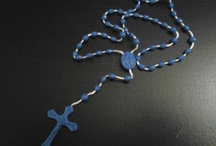 Easter Rosary Beads  / These rosary beads can be worn or used exclusively for prayer. Daily rosary prayers and detailed instructions are included to assist you. These rosaries can be a great gift item for that special someone or purchased for personal use. They're currently only available in two colors, either blue or pink. At a great price of $4.99 with free shipping. / by De Vonee Kaiser