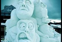 Sensational Snow Sculptures / This board is a collection of beautiful and unique snow sculptures created by some very talented artist. http://fun-thoughts.tumblr.com / by De Vonee Kaiser