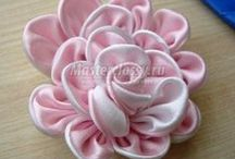 Fabric flowers, bows and headbands / by Marianna