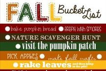 Fall Bucket List Printables / I love bucket lists and here are a bunch to choose from for the fall!  Enjoy! Be sure to visit me at www.SheriGraham.com!