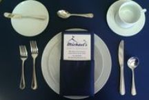 China, Glassware, Flatware / by Michael's Party Rentals, Inc.