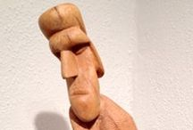 """Patrocino Barela Art / Patrocino Barela (1900-1964) was dubbed the """"discovery of the year"""" by TIME magazine when the MOMA showed his wood carvings in their 1935 Federal Art Project exhibition. Dealers rushed in to sell the self-taught artist's stylized figurative sculptures and critics called him both a modernist and a primitivist, but he resolutely rejected representation and categorization. In his work and life Barela always followed his intuition. See his work at the Matthews Gallery in Santa Fe, New Mexico."""