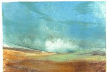 Barbara Brock Art / Barbara Brock lives and works in Taos, New Mexico. Her vibrant monotypes are inspired by the desert landscape that surrounds her. See more of her work at the Matthews Gallery on Canyon Road in Santa Fe, New Mexico.