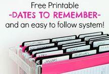 Printables / For organization & crafts