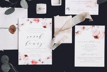 weddings / letterpress and foil Wedding invitations by Blush Paper Co.