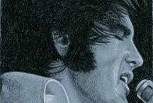 Elvis Art / Rob de Vries, Dutch Artist and long time Elvis fan. www.elvis-art.com