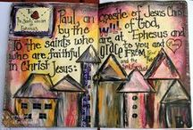 Art Journaling / from Inspired Stamps blog and GodblessyourART blog