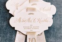 Weddings: Place Cards & Liners