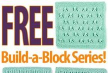 Free Stitch Block Knitting Patterns / Join Creative Knitting editor Kara Gott Warner as she explores a variety of knitting stitches. Don't miss a single Stitch Block series. Join Kara's Blog here: http://www.creativeknittingmagazine.com/blog/ / by Annie's Catalog