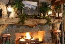 Home Ideas: Living Rooms, Dens, Basements & Man Caves / by Ginia Steward