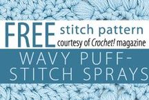 Free Crochet Stitch Patterns / Visit http://www.crochetmagazine.com/ for free crochet stitch patterns. / by Annie's Catalog